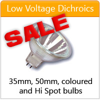 Low voltage dichroics - click here