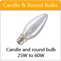 Candle bulbs and round ball bulbs - click here