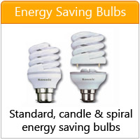 Spiral, candle and standard light bulb energy saving - click here