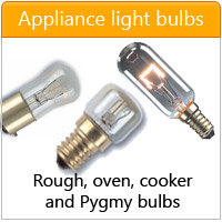 Appliance bulbs for cooker, oven and rough service - click here
